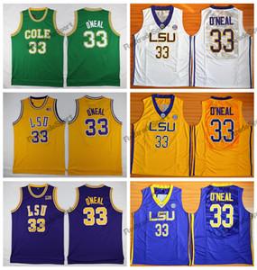 Hombres Barato Shaq O'NEAL 33 COLE High School Jerseys de Baloncesto Colegio Tigres de LSU Ben Simmons 25 Shaquille O'Neal Camisas cosidas