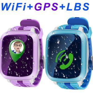 SD81 Kid Crianças Relógio Inteligente Telefone Seguro GPS + WiFi + SOS Chamada Localizador Rastreador Anti perdeu Suporte Cartão SIM à prova d 'água PK DS18 Q90