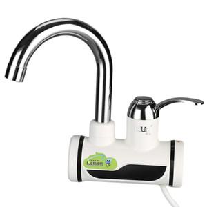 Grifo de calentador de agua eléctrico, Grifo de agua caliente instantánea Grifo de Electirc, Grifo de fregadero de la cocina, Grifo de LED