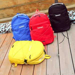 2018 أزياء العلامة التجارية مصمم حقيبة مزدوجة الكتف حقيبة السفر في الهواء الطلق رسالة مطبوعة الحقائب المدرسية للطلاب الظهر