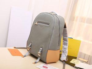 Mostrar mochilas de diseño de moda para hombre Mochilas de cuero genuino 31-46-26cm totalizadores impresos bolsos de hombro mochilas de estilo para los hombres # M43881