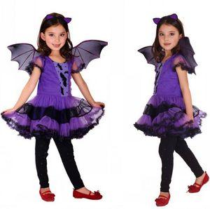 Bat Costume for Girl Children Cosplay Dance Dress cape cloak Costumes for Kids little witch Children'Day Halloween