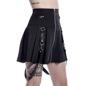 Women's Clothing European and American personality zipper pleated skirt skirt hot ins 2018 women's autumn and winter tide skirt