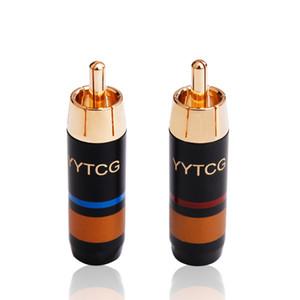 20PCS RCA adaptateur RCA mâle connecteur plaqué or Video Wire Connecteur audio Rouge Bleu YS-348