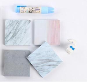 Almofadas de notas de cor de mármore Notas Auto-adesivas Memo Pad Sticky Notas Escola Escritório home notepads