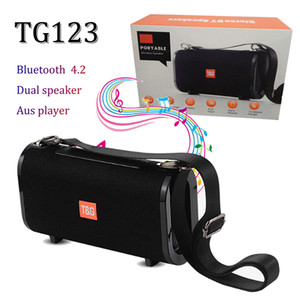 TG123 mini bluetooth 4.2 manos libres altavoz inalámbrico HD sonido súper bajo subwoofer inalámbrico micrófono incorporado woth correa para correr playa al aire libre