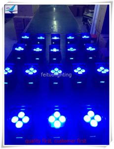12 unids / lote Cubo par aplicación wifi control 4x12w RGBWA UV 6in1 uplighting uplight umight de alimentación led led uplight plana