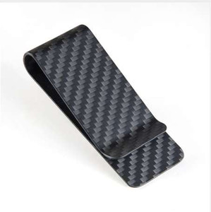 Carbon Fiber Money Clip Men Business Credit Card Clamp Dollar Wallet Cash Purse Holder Bill Pocket Male Money Clips
