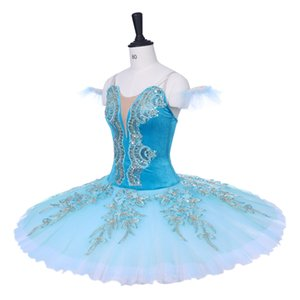 New Arrival Adult Blue Stage Ballet Tutu Costumes Women YAGP Performance Competition Ballet Apperal Girls Ballet Skirt Dresses