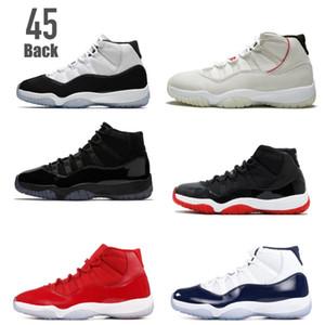 Classic 11 space jam 11s concord 45 back 23 Platinum Tint a basso impatto gamma blu uomo scarpe da basket scarpe da ginnastica Versione di buona qualità
