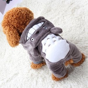 Nuevo patrón de ropa para perros Totoro cambio de ropa para el cuerpo Perros pequeños ropa otoño e invierno suministros para mascotas suave cómodo