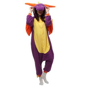 Spyro Dragon Femmes et Hommes Jeu Kigurumi Polaire Costume Polaire pour Halloween Carnaval Nouvel An Fête Bienvenue Drop Shipping