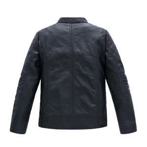 GCWHFL Haute Qualité Vestes Garçons Automne Hiver Filles En Cuir PU Vestes Enfants 4-16Y Vêtements Enfants Chaud Épais Manteau Survêtement