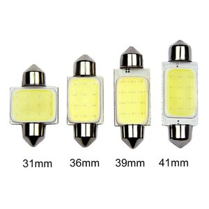 10pcs / lot 31mm 36mm 39mm 41mm 자동차 COB 1.5W DC 12V 인테리어 자동차 LED 전구 램프 인테리어 돔 조명 외부 번호판 조명