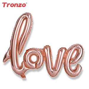 Decoração do casamento Ligatures Amor Foil Balões de 40 polegadas Big Rose Gold Balloons Nupcial Do Chuveiro Bachelorette Party Supplies