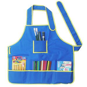 Multifunción Impermeable Niños Delantal Pintura Cocina Niños Niños Niños Delantal Dibujo Delantales Envío de la gota