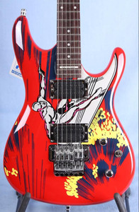 Nadir 20TH YILLIK JS20S Joe Satriani Sörf W / Alien Elektro Gitar Joe Satriani İmzalı arka plakası, Floyd Rose Tremolo İmzalı