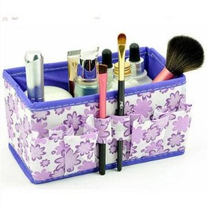 Großhandel Kosmetik Make-up Aufbewahrungsbox Klapp Desktop Schmuck Organizer 4 Farben Gelegentliche Anlieferung Aufbewahrungsboxen Bins faltung make-up