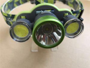 Scheinwerfer 3LED XML-T6 COB LED Kopf Lampe Laterne 6000 Lumen DIY LED Winkel LED Kopf Taschenlampe Camp Wanderung Licht 18650
