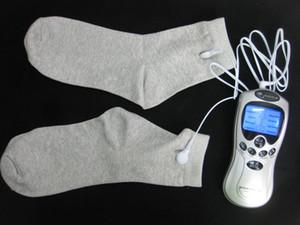 발 마사지 전기 양말 전기 충격 자극 eStim 치료 키트 수만 기계 통증 건강 관리 재사용을 휴식