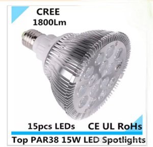 LED 스포트 라이트 par38 주도 15W 15X1W 따뜻한 화이트 멋진 par38 led 전구 15w 교체 200W AC 85-265V 1800Lm CE UL RoHs EMS LLFA