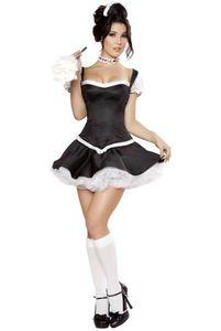 Costumi adulti sexy Spedizione gratuita Flirty Fifi French Maid Costume 3S1063 French Adult Sexy Maid Uniforms