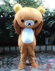 Высокое качество подгонять 2018 Дженпэна медвежонок Rilakkuma талисмана CostumesJanpan Rilakkuma медведь талисман костюмы Бесплатная доставка