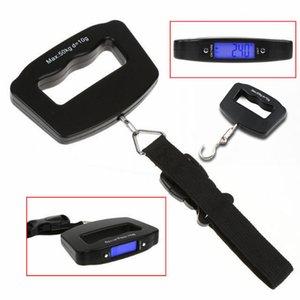 Portátil Digital Pesando Balanças de Mão 50 kg 10g Gancho Bandage Pendurado Escala Azul Display LED NNA794