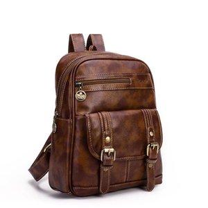 Mochila das mulheres do vintage de couro pu mochila escolar mochilas escolares adolescentes meninas top-handle mochilas herald zdd11101
