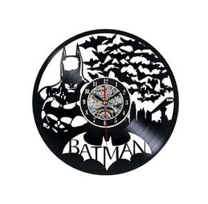 Black Classic Old Record Concept Orologio da parete Antique Retro Vinyl Vinyl Clocks Meccanismo al quarzo horloge murale