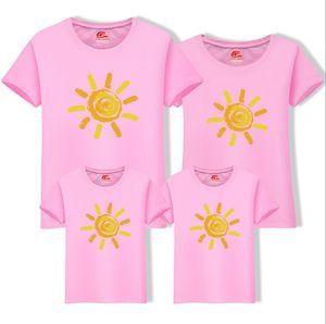 Мужчины Женщины футболки семьи соответствия одежды ВС печатных хлопок футболка с коротким рукавом Родитель Ребенок повседневная семья летние наряды