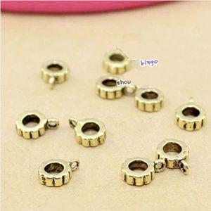 20pcs lot European Beads Bail beads with big hole Fitting DIY charms Bracelet F283