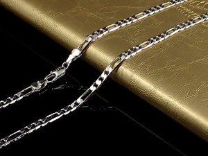 Fine 925 Sterling Silver Necklace 4MM 16-30Inch Classic Figaro Curb Chain Link,2018 Fine 925 Silver Shake Chain Necklace New Style SN102