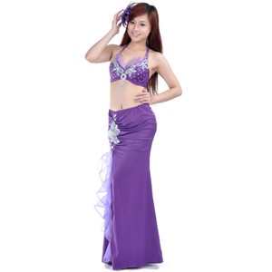 2018 Performance Belly Dancing trajes egipcios oriental Dace Bra falda Belly Dance 2pcs conjunto de disfraces