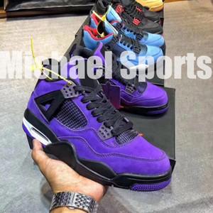 TOP Factory Version 4 Baskets en daim violet Family Limited Basketball baskets pour hommes nouveaux 2018 Sneakers avec Box