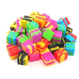 silikon mum kap / mum 30mmX30mm yapışmaz balmumu konteynırların kavanozlar silikon kutusu için silikon küpünün 9 mi yapışmaz konteyner