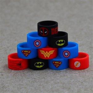 Superhero Vape band Avengers anello di silicone vape Gomma antiscivolo per atomizzatore RDA Tank Mod banda decorativa e protettiva in silicone