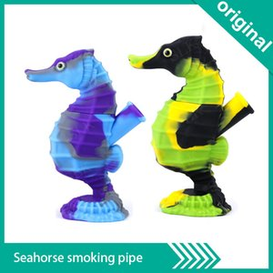 """New silicone bong Water Pipe Glass Bongs Oil Rigs Glass Bong 5.91"""" Height Silicone Material recycler oil rigs for smoking pipes"""