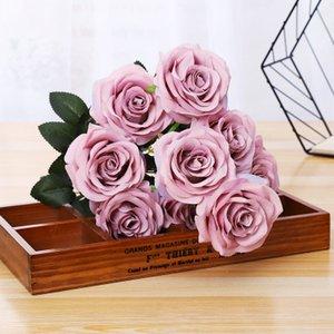 Artificielle Rose fleur décoration décoration de la maison Soie Décoratif Parti Fleurs Pour La Maison Hôtel De Mariage Bureau Jardin bonbons couleurs