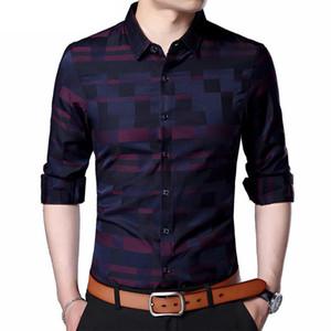 Coodrony Plaid Men S Shirt Mens Business Casual Hemden Männer Berühmte Marke Kleidung Plaid Langarm Camisa Masculina