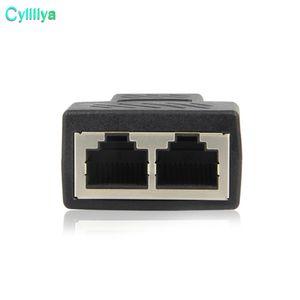 Yüksek Kalite Yeni 1 2 Yolları için RJ45 LAN Ethernet Ağ Kablosu Dişi Splitter Bağlayıcı Adaptörü