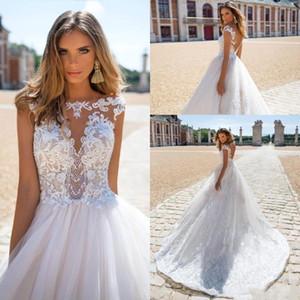 Nueva Milla Nova Summer Beach Vintage Lace Wedding Dresses 2018 Capped manga Vestido De Novia Gorgeous vestidos de novia personalizados