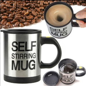 Control inteligente 1 unids taza eléctrica de acero inoxidable taza de café auto revolvedor tazas de 400 ml Tazas de mezcla de leche con doble aislamiento automático