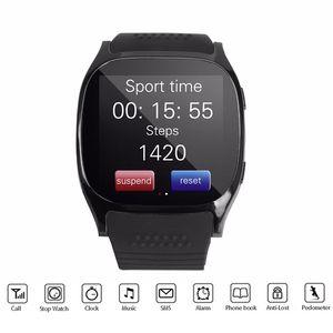 새로운 T8 Bluetooth 똑똑한 시계 여자 남자 방수 Smartwatch 보수계 건강 추적자 지원 SIM TF 카드 M26 DZ09
