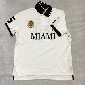 POLO Camiseta EE. UU. Big Pony City Custom Fit Mesh Tamaño UE Reino Unido Miami White Dubai Gold Chicago Red New York Negro