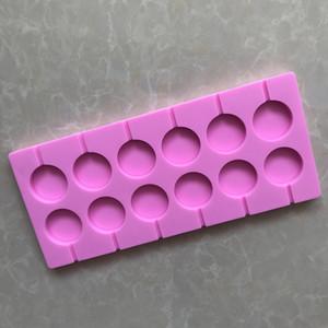 nouveau arriver Fondant Tools Patisserie Chocolates Modèle 12 Even Round Star Sucre De Bonbons Lollipop Moules Pièce Silicone Cuisson Au Four