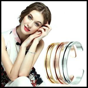 패션 헤어 넥타이 팔찌 쥬얼리 새로운 디자인 실버 컬러 여성 커프 팔찌 선물을위한 금 도금 선물 커프스 팔찌 로즈