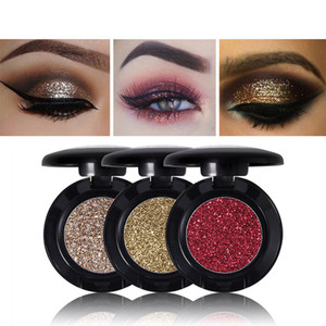 MISS ROSE Single Glitter Eyeshadow Professional Gold Eye Shadow Powder Moda Sparkly Eyes Paleta de maquillaje 24 Opciones de color 1.8g
