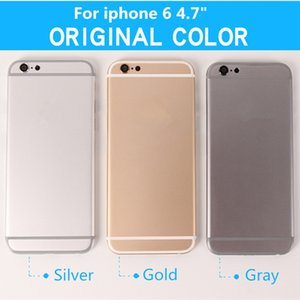 Back Housing for iPhone 6 6G Battery Door Cover Case Middle Frame Chassis Body Replacement Black Silver Gold + IMEI