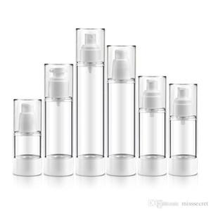 Botella cosmética plástica vacía recargable Mini botella de perfume de viaje Airless bomba botellas líquidas de vacío 15ML 30ML 50ML